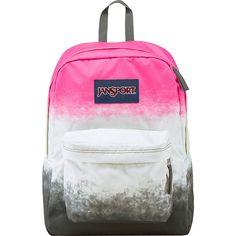 JanSport SuperBreak Backpack ($30) ❤ liked on Polyvore featuring bags, backpacks, pink, school & day hiking backpacks, knapsack bags, pocket backpack, jansport bags, jansport and handle bag