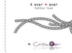 Proyecto diseño de tatuaje. Forever in love. 4ever + ever. Para J.C. Project Tattoo Design