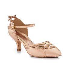 nice color, detail, strap, bow. Dance shoe