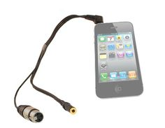 iPhone XLR Cable with Headphone Jack for iPhone 3G, 3GS & iPhone 4GS. You can now use your iPhone for professional recording with your existing XLR microphones like Shure, Sennheiser, Audio Technica Etc. This is a good solution instead of using the built-in mic or other noisy consumer microphones. In addition you can monitor what's being recorded, it has a headphone output for monitoring. $29.95