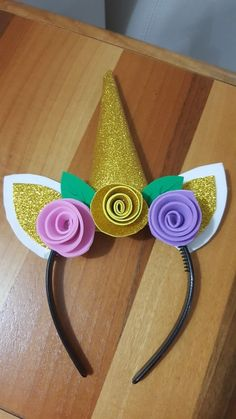 Unicorn Themed Birthday Party, Birthday Party Decorations, Girl Birthday, Unicorn Headband, Unicorn Horns, Unicorn Crafts, Diy Crafts For Kids, Diy Gifts, Baby