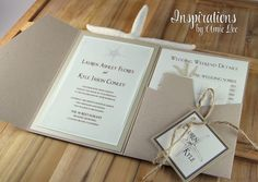 Wedding Invitations - Rustic Beach by Inspirations by Amie Lee