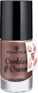 cookies & cream - nail polish + sticker onpack 03 last night a cookie saved my life - essence cosmetics