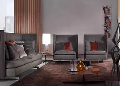 O sofá GranTorino HB, uma expansão da linha GranTorino, tem desenho do francês Jean-Marie Massaud e assemelha-se a uma pequena peça de arquitetura. A nova adição pode ser combinada com outras peças da coleção, como a cama, de mesmo nome.