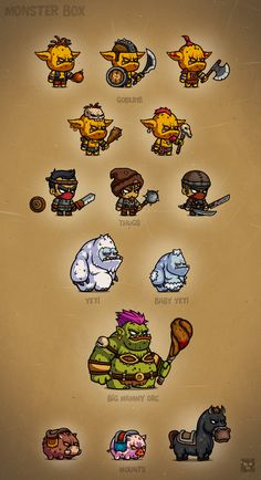 Monster Cartoon Characters RPG 2 by EatCreatures on Creative Market
