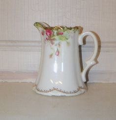 Antique Vintage Porcelain creamer pitcher by monjardinVintage, $15.55