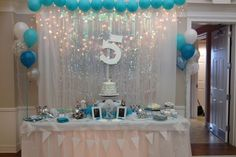 Cake Table Disney's Frozen Winter Wonderland Birthday Party ❄️ By Jessica Almond