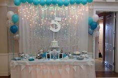 Cake Table  Disney's Frozen Winter Wonderland Birthday Party ❄️ By Jessica Almond