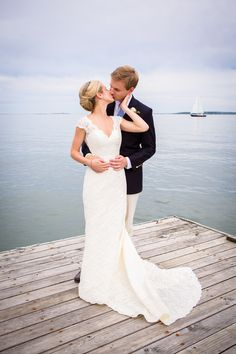 If you are getting married by the water, take time out to get a few shots on the dock. He Married the Girl Next Door: Katie and Sander's Wedding in Duxbury » Fucci's Photos of Boston | Boston Wedding Photographer