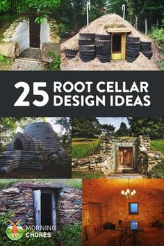 25 DIY Root Cellar Ideas to Keep Your Harvest Fresh - 25 great ideas to build a functional root cellar in the corner of your backyard. It is especially useful if you're living off the grid, don't want to use too much electricity, or in survival mode (and Outdoor Projects, Garden Projects, Root Cellar Plans, Homestead Survival, Survival Mode, Homestead Land, Survival Shelter, Survival Prepping, Emergency Preparedness