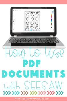 Are you using SeeSaw in the classroom with your students and wondering how to incorporate your PDF documents into distance learning? Click the pin to read this informative post about how to use your PDFs with SeeSaw!