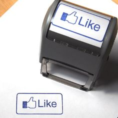 Large SelfInking Facebook Inspired Like Stamp for by Wacodis, $21.95 - This would be fun for about 3 minutes.
