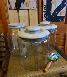 Vintage Storage Jars / Wedding Candy Bar or by TheWellSeasonedNest, $42.00