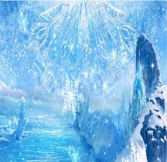 Blue Ice World Backdrops for Birthday Party Custom by katehome2014