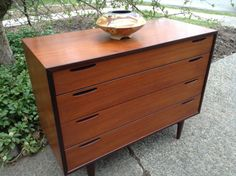 1960's Mid Century Dresser - Danish Chest of  Drawers -J Clausen - Brande Mobelfabrik - Mid Century Credenza by DareToBeVintage $800.00