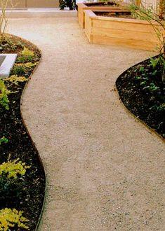 #Albuquerque_Landscaping #Landscape_Design_Albuquerque $4.00 Price per Ft. Your choice of green Or brown steel edging. Garden Paths, Garden Landscaping, Landscaping Ideas, Steel Edging, Steel Landscape Edging, Landscape Maintenance, Yard Maintenance, Front Yard Walkway, Concrete Edging