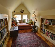 Farmhouse Library - Make like Jo in Little Women and sneak off to the attic to eat apples and read in peace.