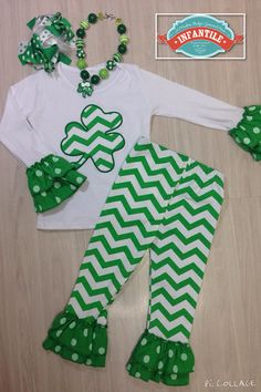 St. Patrick's Day Girl Outfit Ready To Ship: St. by InfantileShop