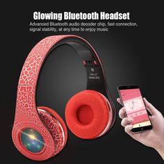 14.14$  Buy here - http://alik6k.shopchina.info/go.php?t=32763188936 - Original Bluetooth Foldable Headband LED Light Sports Headset FM TF SD Card Headphones Fashion Stereo Noise Reduction Earphones  #aliexpressideas