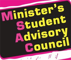 """Minister's Student Advisory Council Survey.  Make your """"student voice"""" heard! To complete the survey, follow this link!  http://tinyurl.com/jb9gjts"""