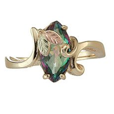 Mystic Fire Black Hills Gold Ring