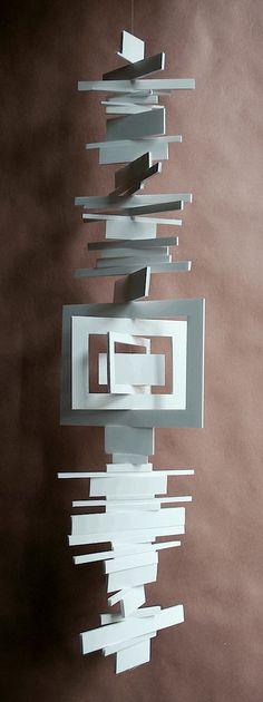 mobile: abstracte vormen Mobiles, Mobile Art, Hanging Mobile, Sculpture Projects, Art Projects, Suncatchers, Wind Sculptures, Kinetic Art, Collaborative Art