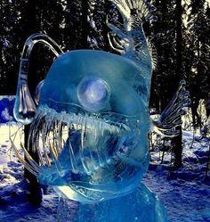 Ice sculpture lantern fish