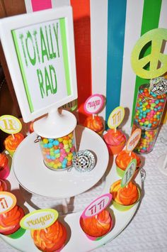 Neon-80s inspired Birthday Party Ideas | Photo 2 of 12 | Catch My Party