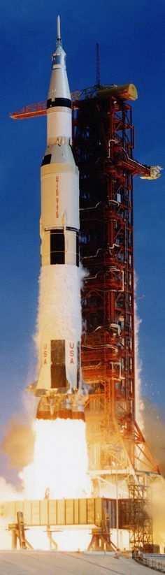 Apollo 11 Moon Launch Rocket - July of 1969 - Long, Tall, Vertical Pins