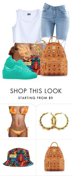 """""""Untitled #76"""" by oh-thatasia ❤ liked on Polyvore featuring MTWTFSS Weekday, MCM, adidas Originals, women's clothing, women's fashion, women, female, woman, misses and juniors"""