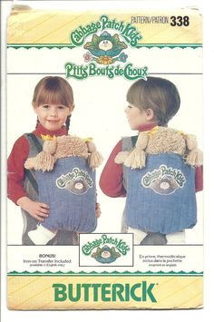 Cabbage Patch Doll Carrier Pattern Kids Backpack by WildPlumTree, $4.00