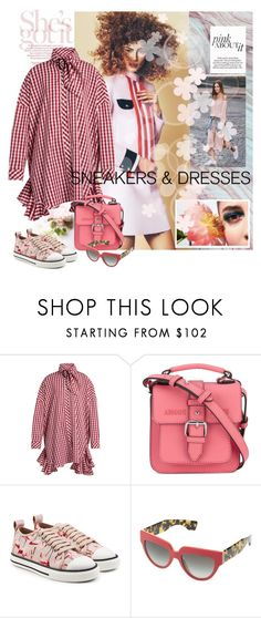 """""""Sneakers and dresses"""" by mariapia65 ❤ liked on Polyvore featuring House of Holland, Armani Jeans, Who What Wear, RED Valentino, Prada and SNEAKERSANDDRESSES"""