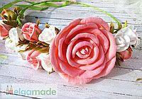 Венок с розами из фоамирана в винтажном стиле