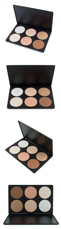 ALINCAS Professional 6 Color Makeup Cosmetic Blush Blusher Contour Powder Palette (#01) Blusher, Face Powder, Makeup Palette, Bronzer, Good Skin, Makeup Cosmetics, Contour, Light Colors
