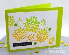 Memory Box Chrysanthemum Collage, Open Studio Stitched Rectangle Layers, Jean Okimoto, Kaleidacolors, Imagine Crafts