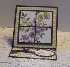Stampin Up Circle Card | SUO Elements of Style Easel Card Stampin Up Hostess Promotion