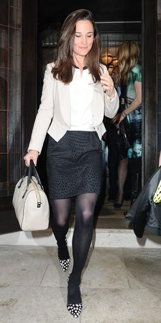 Pippa Middleton Wears a Chic Printed Tabitha Webb Dress   InStyle.com