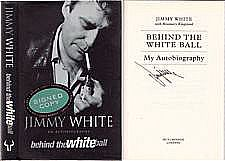 Behind The White Ball by Jimmy White. (signed)  Traded In recently @ Canterbury Tales Bookshop / Book exchange / Cafe / Guesthouse / Pattaya, Thailand...  After Hurricane Higgins crashed out of snooker's top league, Jimmy White has been the People's Champion' even though he never quite made the top World spot, pipped at the post in 1995 by Stephen Hendry, after missing one single black.  Aged 16, White was the youngest player to win the English Amateur Championship.