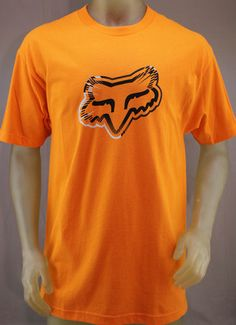 Fox Racing orange T-shirt with gray & black logo