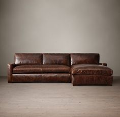 Petite Maxwell Leather Sectionals | RH