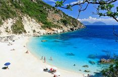 Aghiofili beach, Lefkada island, Ionian Sea, Greece #TravelEuropeBeach