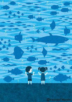 Illustration - Aquarium / Photoshop on Behance