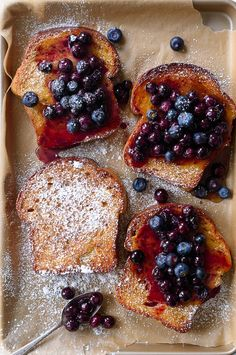 Maple Baked French Toast with Blueberries / forkknifeswoon.com | @forkknifeswoon