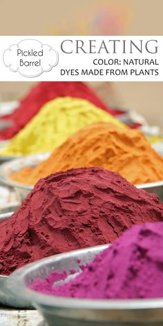 Creating Color: Natural Dyes Made From Plants – Pickled Barrel - Modern Natural Dye Fabric, Natural Dyeing, How To Dye Fabric, Dyeing Fabric, Textiles, Diy Home Crafts, Nature Crafts, Fabric Manipulation, Homemade Beauty