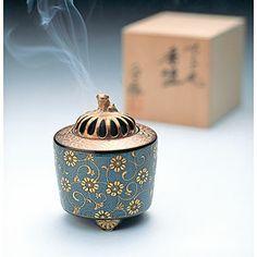 石川県 九谷焼 香炉 青粒鉄仙 Ao-Chibu style Kutani ware