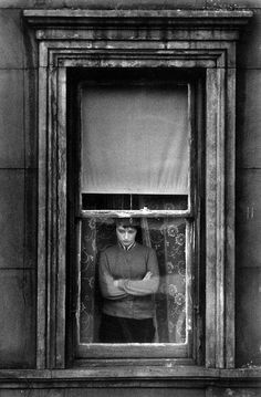 Charles Harbutt :: Woman at the window, Yorkville, NYC, 1959 / more [+] by this photographer