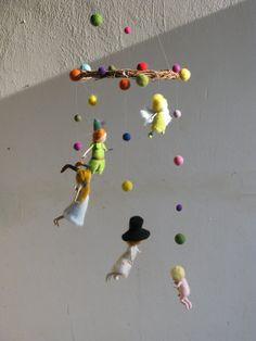 Peter Pan und seinen Freunden Nadel Gefilzte mobile