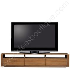 meuble tv ethnicraft chene shadow Centre Pieces, Decoration, Flat Screen, Lounge, Desk, Colours, Furniture, Tv Media Stands, Living Room Tv