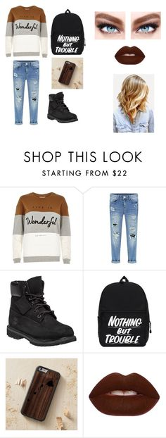 """Outfit 6"" by camelia-kaylahana on Polyvore featuring River Island, Timberland, Lime Crime and Maybelline"