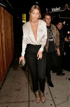 11/2/15 - Gigi Hadid arriving to Kendall Jenner's 20th Birthday Party in West Hollywood.